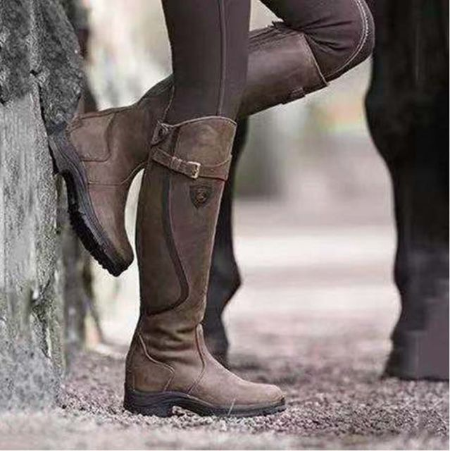 Women's Leather Horse Riding Boots 3