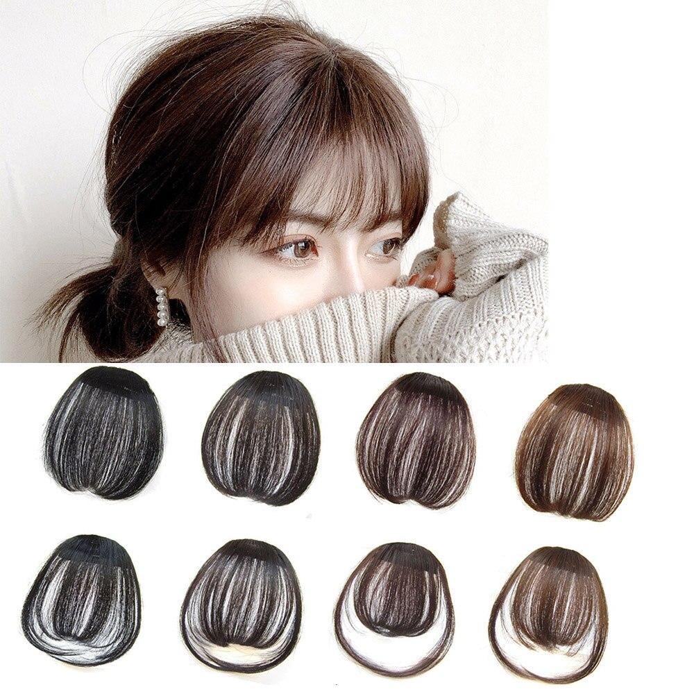 Милая женская челка на заколке наращивание волос натуральные и невидимые синтетические шиньоны Air Bang