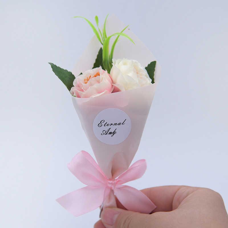 رغوة صغيرة الفاوانيا اليد جعل زهرة اصطناعية باقة ورد صناعي الزفاف الديكور سكرابوكينغ الحرفية لتقوم بها بنفسك إكليل هدية صندوق
