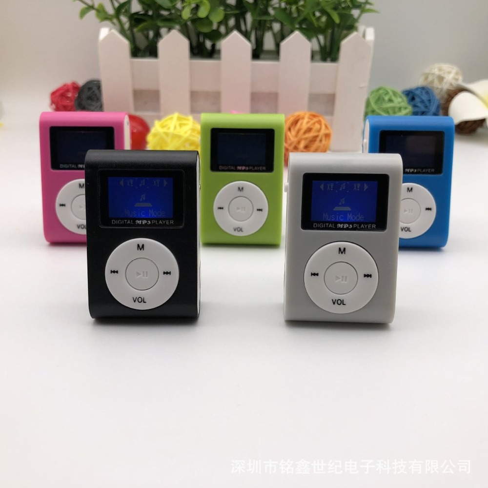 Small Size Portable MP3 Player Mini LCD Screen MP3 Player Music Player Support 32GB TF Card Best Gift