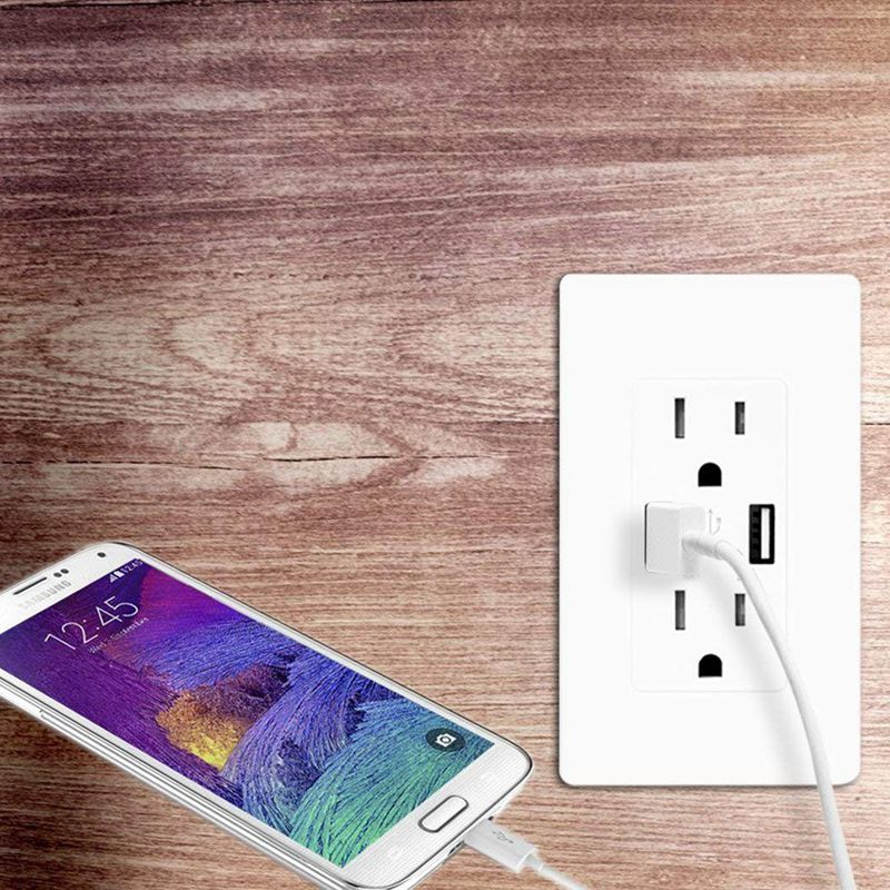 Fast Charger USB Outlet Duplex Dual USB Wall Outlet with 15A 110V 120V Tamper Resistant Electric Receptacle Childproof USB Out in Chargers from Consumer Electronics