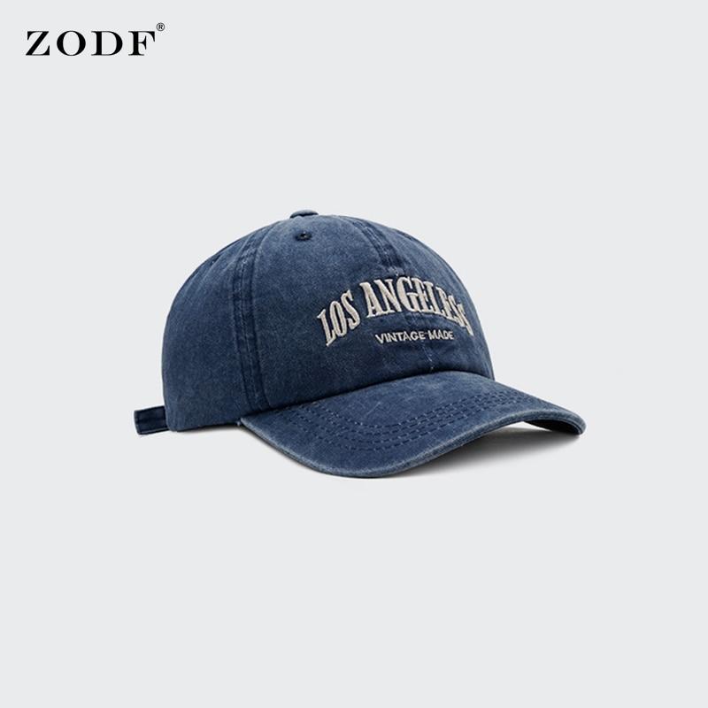 ZODF Vintage Women Washed Cotton Caps Retro Embroidery Men Unisex Adjustable Baseball Caps Outdoor Snapback Hat Brand HY0137