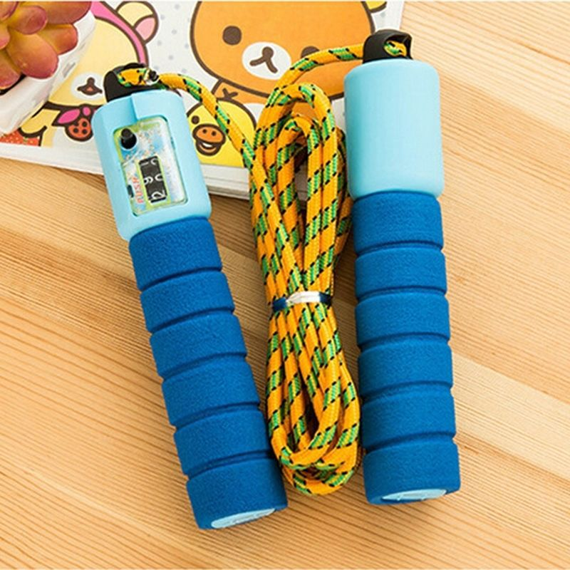 [2-Packaged In The Shape Of Bars] Profession Count Jump Rope Sports Fitness Adult Children Foam Rubber Grip Students The Academi