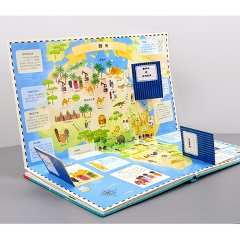 3D Flap Book Children Reading Books My First Exploration Picture Book Travel Around the World English Educational travel around the world