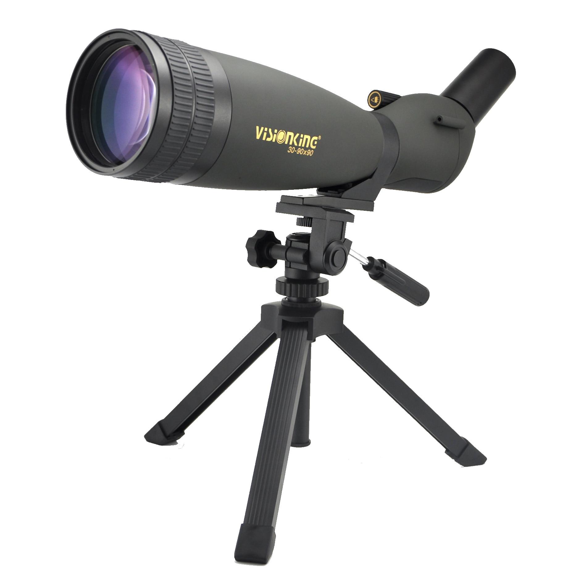 Visionking 30-90x90 45° Angled Spotting Scope W//Phone Adaptor Waterproof Tripod