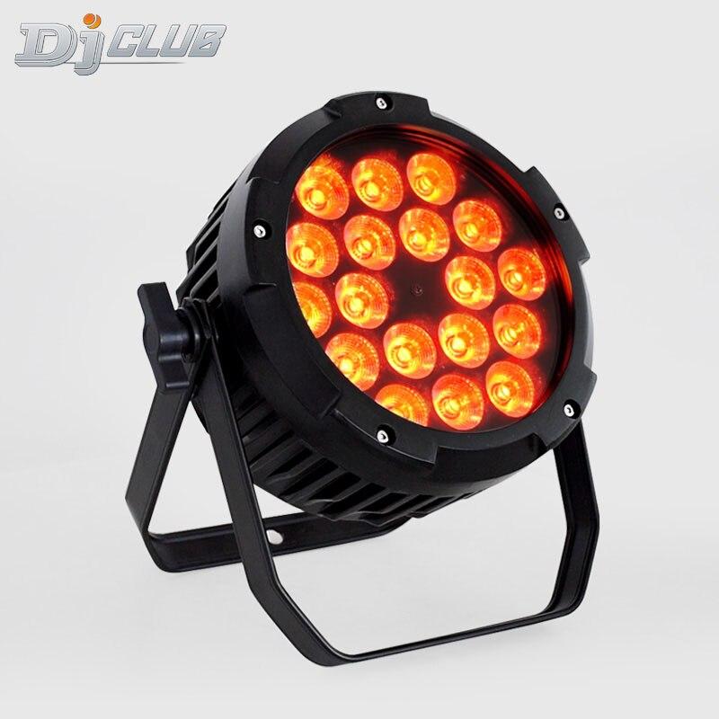 Mini Par Can Uplighting Waterpoor Outdoor Buliding Led Par 18x18 Watt Rgbwa Uv Color 6in1 For DMX Stage Lighting