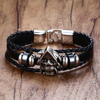 Bracelet crâne viking 1