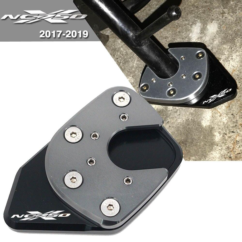 Alpha Rider Motorcycle CNC Aluminum Side Stand Enlarger Plate Kickstand Enlarge Extension For Hon da NC750X 2017 2018 Red Sliver