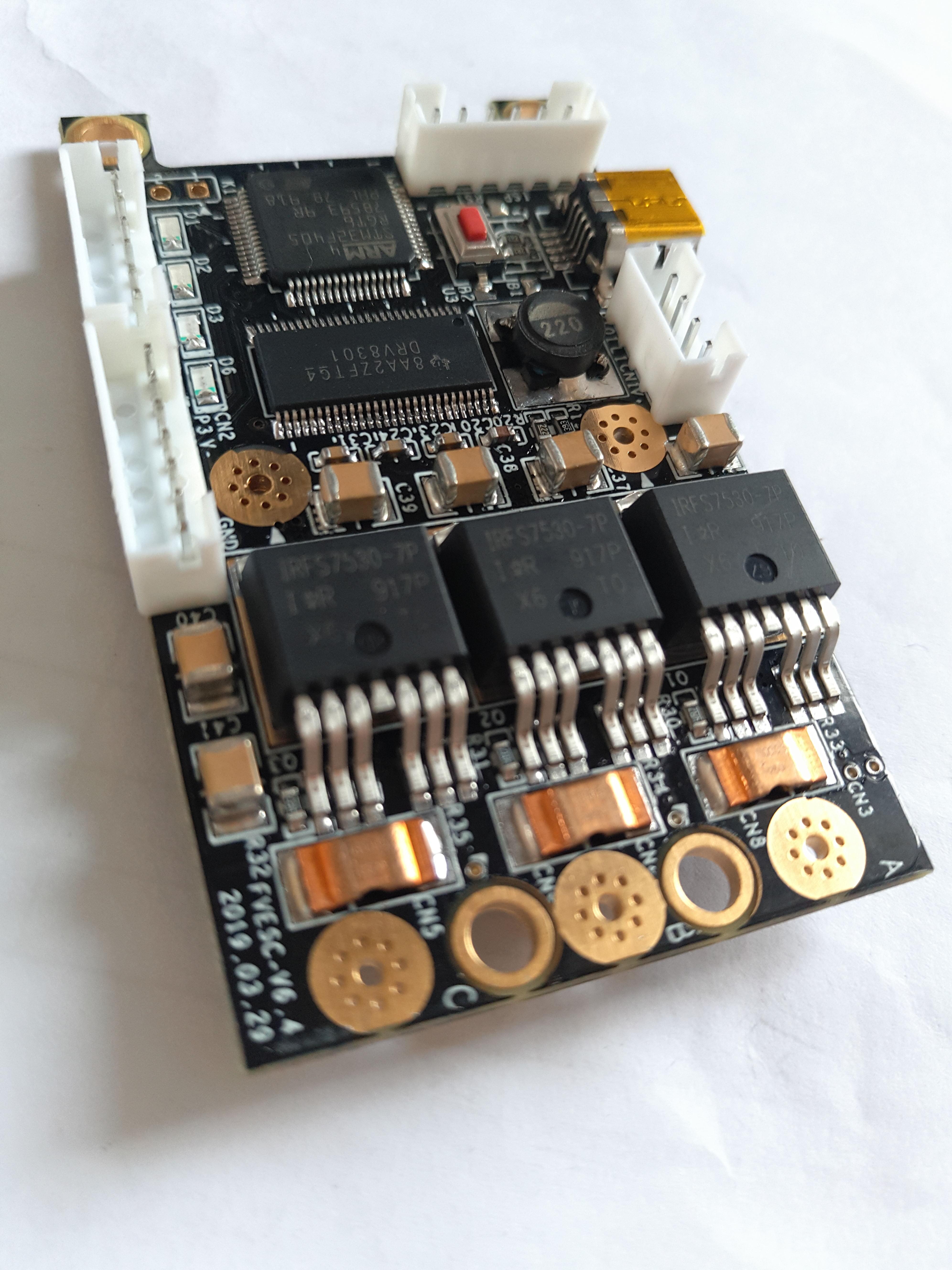 [Upgrade Version] VESC6 Hardware V4 Complete Replacement Same Size Interface DRV8301 ESC