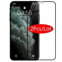 Protector de cristal 3D para iphone 11 Pro Max, Protector de pantalla de cristal para aifone X 10 Xr Xs aiiphone 11Pro Max Glas iphone11 Armor, 2 uds.