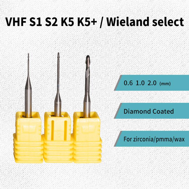 VHF фрезерные боры с циркониевым керамическим покрытием для VHF K4/K5 фрезерный станок