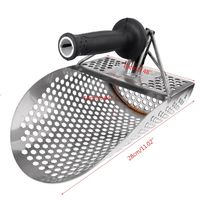 Gold Hunter Profession Metal Detector Sand Scoop Stainless Steel Shovel Spade