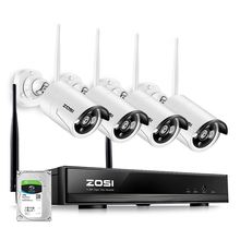 ZOSI Plug & Play Wireless 4CH CCTV Kamera System P2P Drahtlose 1080P NVR & IP Kamera 960P Outdoor kugel Wifi Überwachung System