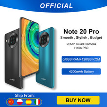 Cubot Note 20 Pro Quad Camera Smartphone NFC 6GB/8GB + 128GB 6.5