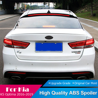 Fit For Kia K5 Optima With Brake Light Black Roof Spoiler 2016 to 2019 Rear Trunk Boot Wing Lip Roof Tail Spoiler Car Styling