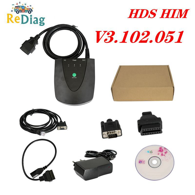 Hds-Tool Obd2-Scanner RS232 HIM Newest-Version Honda Double-Board V3.102.051 No for  title=