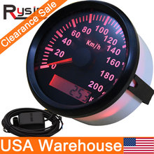 GPS Speedometer Motorcycle Backlight 85mm with Gps-Antenna 200km/H Waterproof for Car