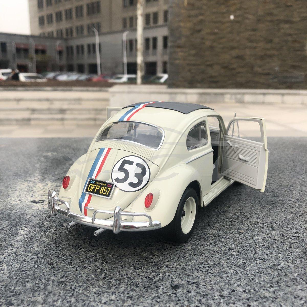 Hot Wheels 1:18 Volkswagen Beetle 53 Ghostbusters 53 # Alloy Car Model Accessories