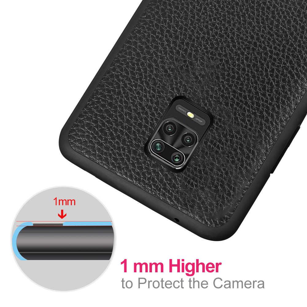 Mofi caso capa para xiaomi redmi nota 9 9s pro max couro de volta habitação vermelho mi note9 note9s 9pro 9 promax anti bater queda cheia