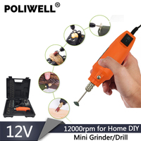 POLIWELL Electric Power Tools Mini Drill Mini Grinder Engraver Pen Rotary Tool Grinding Machine with 60 PCS Dremel Accessories