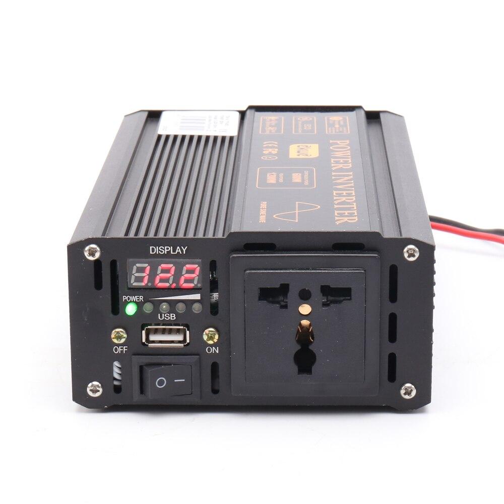 Сертификация CE, лучший пик 1200 Вт, инвертор с полной поддержкой 600 Вт, немодулированный синусоидальный сигнал 60 Гц, немодулированный синусоид...