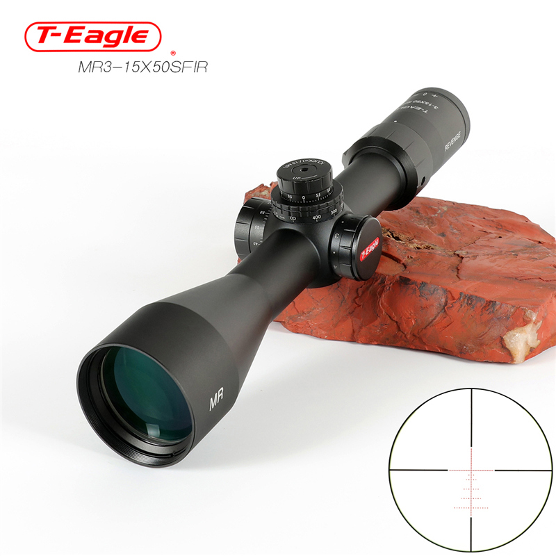 Teagle Tactical MR 3-15X50 SFIR Scope Lateral Adjustment Hunting Riflescope Optical Sights Side Focusing Rifle Scope Sniper Gear