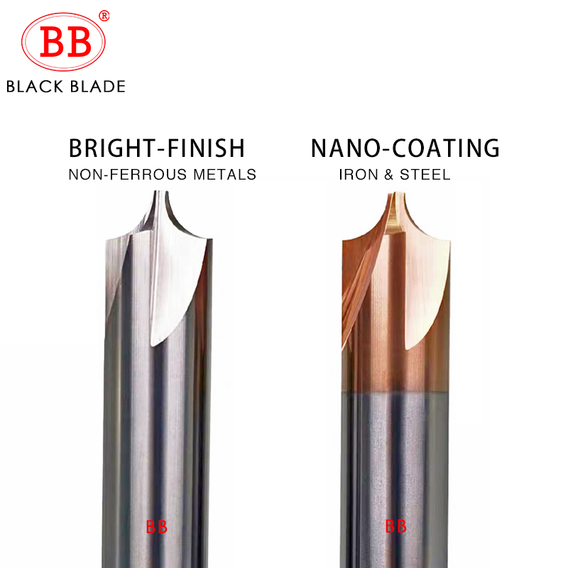 BB Carbide Radius Corner Rounding Cutter End Mill Steel CNC Tool R0.5 R1 R2 R3 R6 Chamfering Outside Radii Router Bit