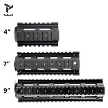 "Tactical 4 ""7"" 9 ""calowy AR15 M4 karabinek myśliwski Airsoft AR-15 RIS drop-in Quad Rail Mount Free Float Picatinny jelca(China)"