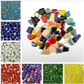 100g Irregular Mosaic Making Creative Ceramic Mosaic Tiles DIY Hobby Wall Crafts Handmade Decorative Materials Mosaic Pieces elada mosaic a917 327x327x4мм красная