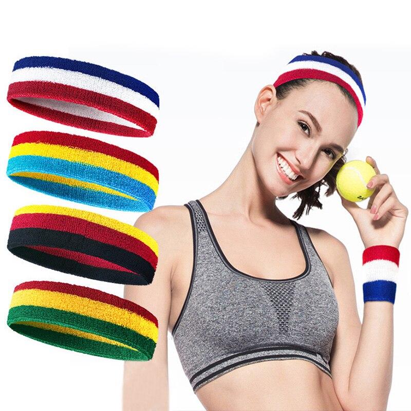 Colorful Sports Yoga Hair Band Women Men Sweat Headbands Elastic Rubber Breathable Sweatbands Football Runing Yoga Accessories