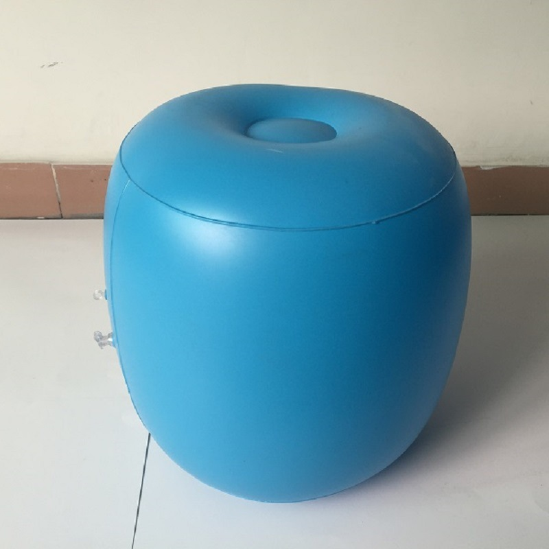 Dongguan Strength Factory Direct Selling PVC Inflatable Seat Inner Wearing, Travel Inflatable Stool, Train Stool Inflatable Stoo
