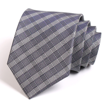Brand New Men's Classic Grey Striped Tie High Quality 8CM Wide Ties For Men Business Suit Party Work Necktie Fashion Formal Tie