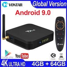 TX6 안드로이드 9.0 스마트 TV 박스 안드로이드 박스 Allwinner H6 4GB RAM 32G ROM 지원 4K H.265 2.4G/5G WiFi BT4.1 미디어 플레이어 Tanix TX6