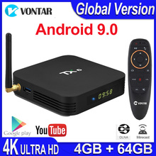 TX6 Android 9.0 Smart TV Box Android boîte Allwinner H6 4GB RAM 32G ROM prise en charge 4K H.265 2.4G/5G WiFi BT4.1 lecteur multimédia Tanix TX6