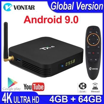 TX6 Android 9.0 Smart TV Box Android Box Allwinner H6 4GB RAM 32G ROM Support 4K H.265 2.4G/5G WiFi BT4.1 Media Player Tanix TX6