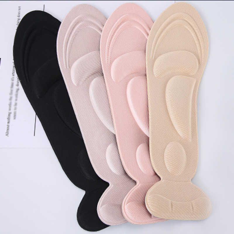 1Pair Insole Pad Inserts Heel Post Back Breathable Anti-slip for High Heel Shoe New Thickening Massage Insoles Heel Post Sticker