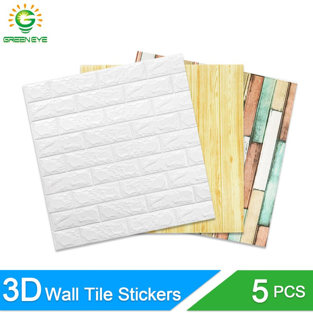 3D WallStickers Marble Brick Peel and Self-Adhesive Wall paper Waterproof DIY Kitchen Bathroom Home Wall Decal Sticker image