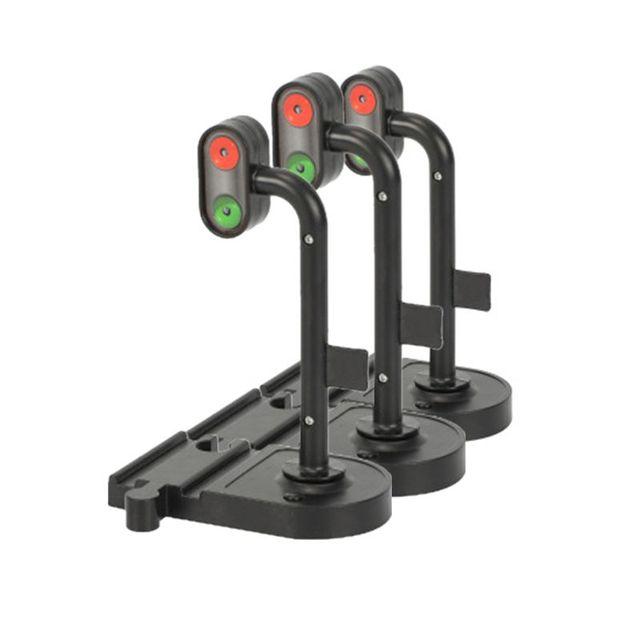 Scène Rail Transit feux de signalisation feux de signalisation accessoires en bois piste magnétique Train accessoires compatibles avec les trains