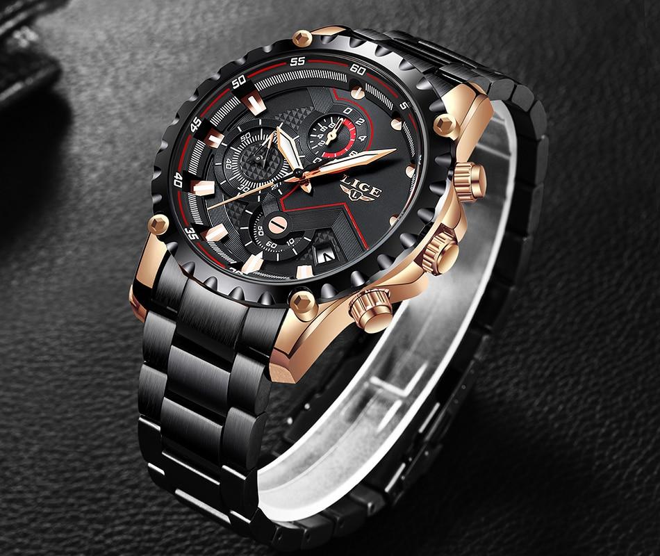 Hf2ef3866a7bb449e8dcc431cf79cc8163 LIGE Top Brand Luxury Mens Fashion Watch Men Sport Waterproof Quartz Watches Men All Steel Army Military Watch Relogio Masculino