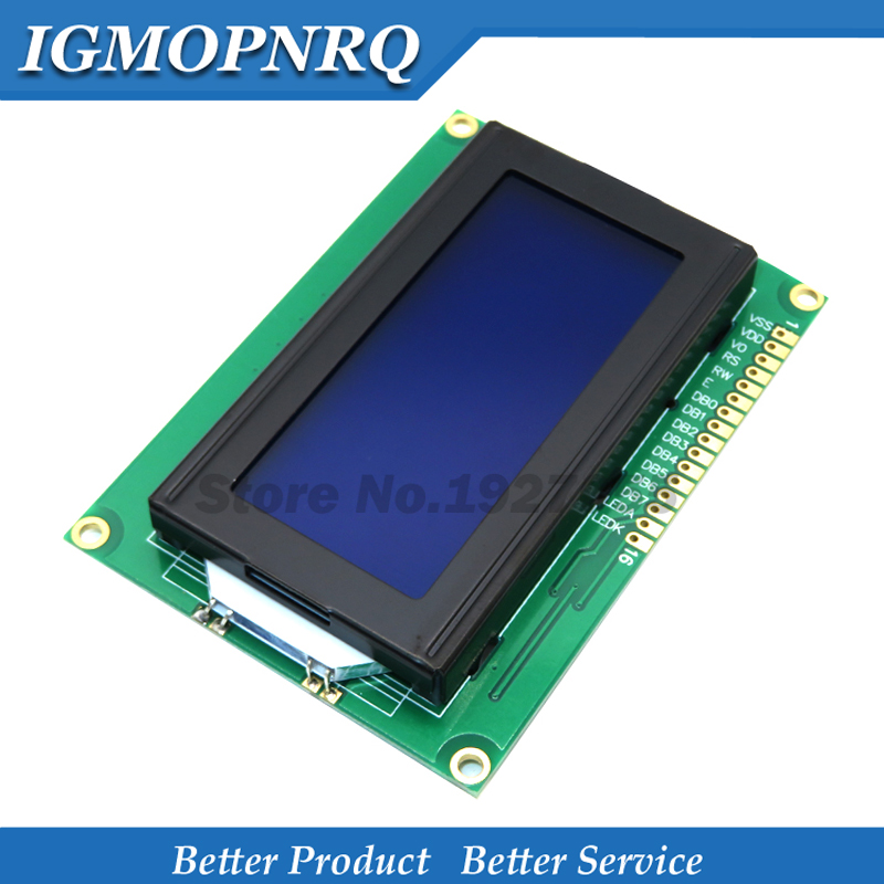 LCD 16x4 1604 caracteres pantalla LCD Módulo LCM azul de luz negra 5V Nuevo