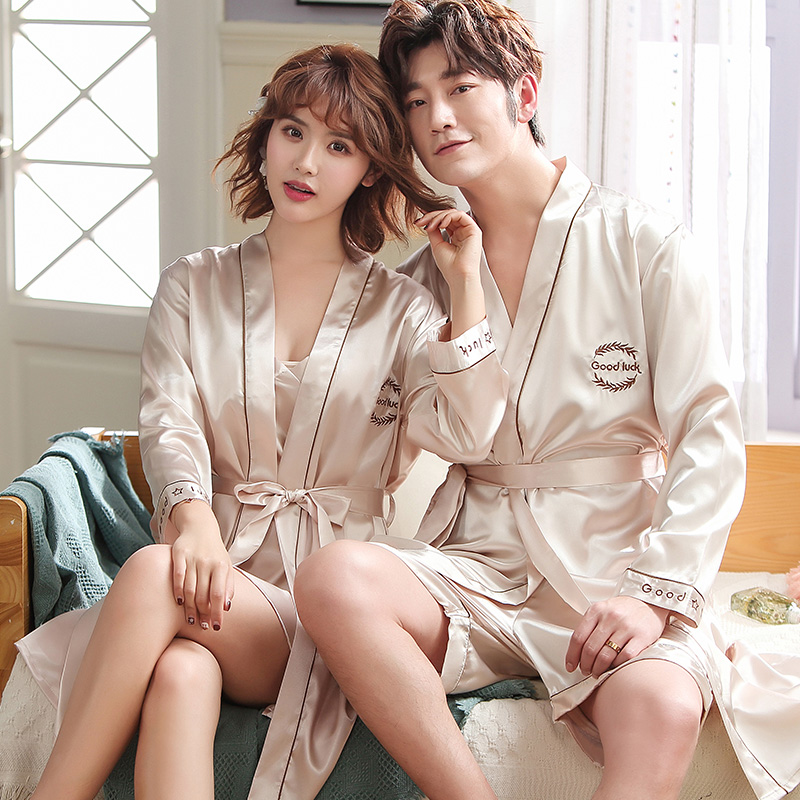 Champagne Bath Robes Couples Kimono Pajamas Mr. Mrs. Robes Honeymoon Wedding Gift For Bride Groom Hotel Home Vacation Clothing