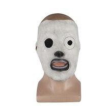 Máscara de halloween cosplay corey taylor, máscara de látex para tv, adereço de fantasia