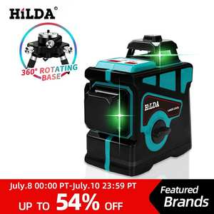 HILDA Laser-Level 12-Lines Green Super-Powerful 360-Horizontal Vertical-Cross 3D And