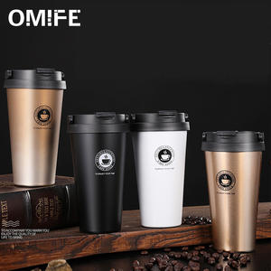 Omife Cute Cups Coffe-Mugs Cafe Tea Eco-Friendly Office Stainless-Steel Travel 500ml