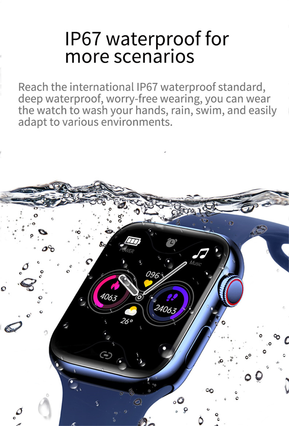 2021 Smart Watch  Sport Smartwatch Men Women Sleep Body Temperature Heart Rate Blood Pressure Monitor Watches For IOS Android