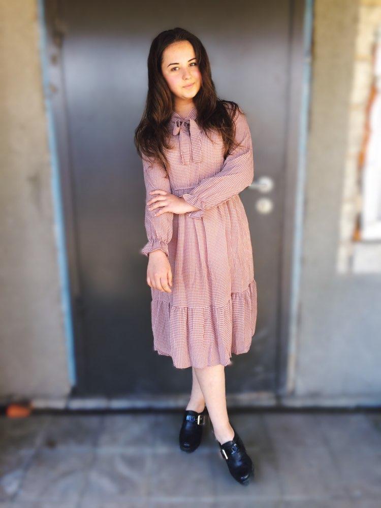 Korean Black Shirt Vestidos Office Polka Dot Vintage Autumn Dresses Women Winter Dress 19 Midi Floral Long Sleeve Dress Female 27