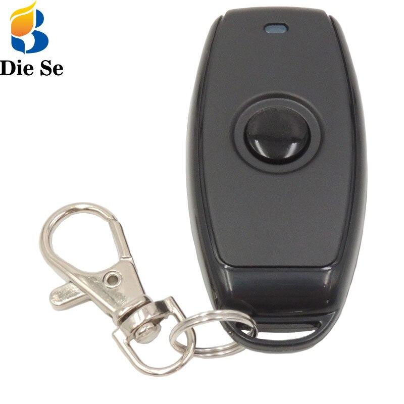DieSe радиочастотный передатчик 433 МГц, беспроводной пульт дистанционного управления 1527, обучающий код с батареей для лампы, простой стиль, то...
