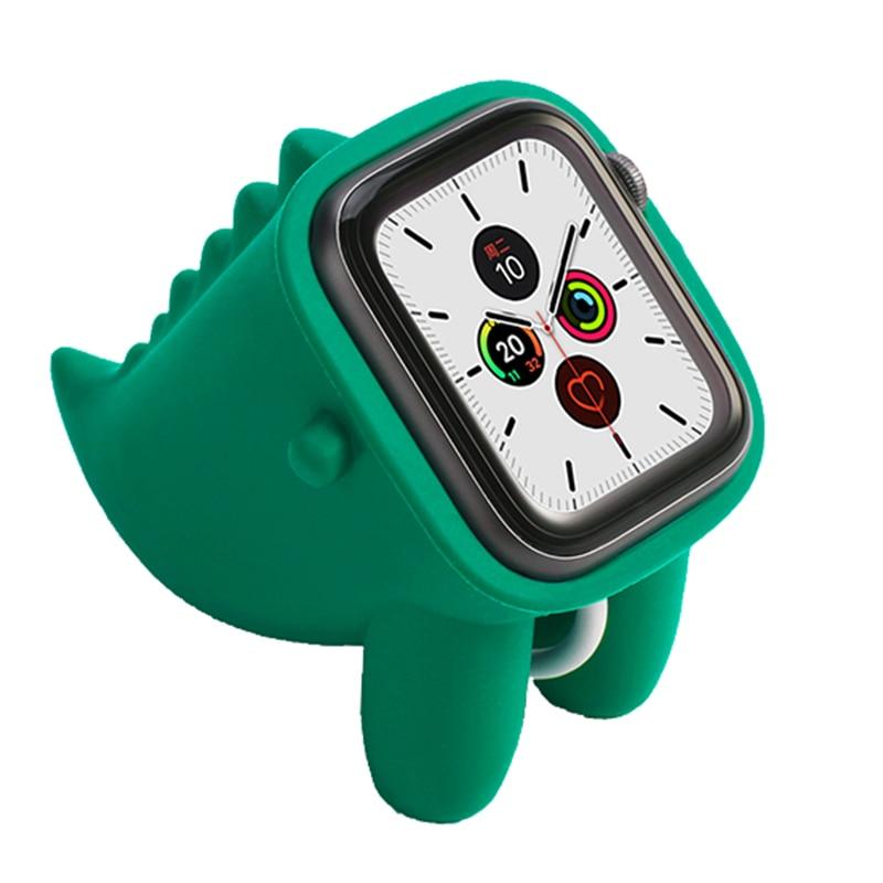 For Apple Watch Holder Cute Dinosaur Shape Silicone Concise Bracket Anti-slip Durable Holder Hotsale