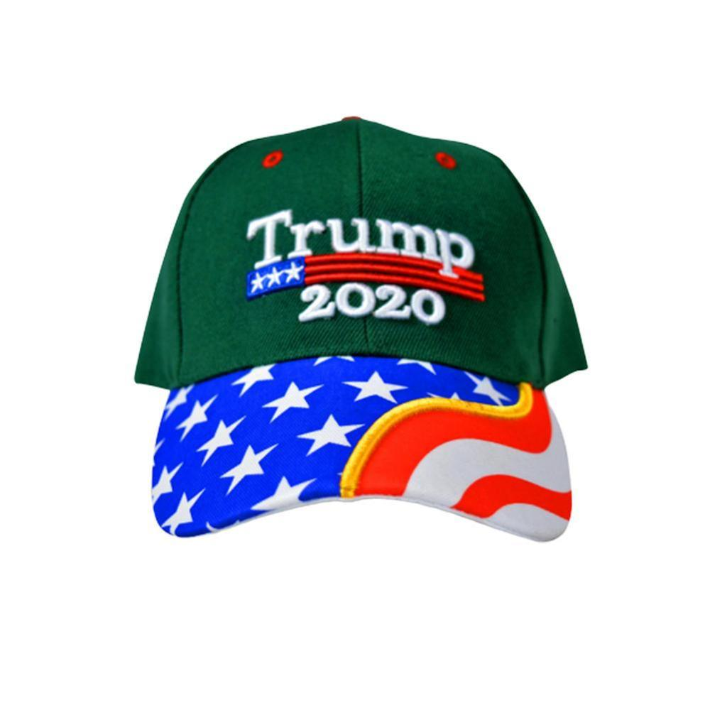 New Donald Trump 2020 Cap American Flag Baseball Cap Makes America Great President Cap 3D Embroidery Black Wholesale