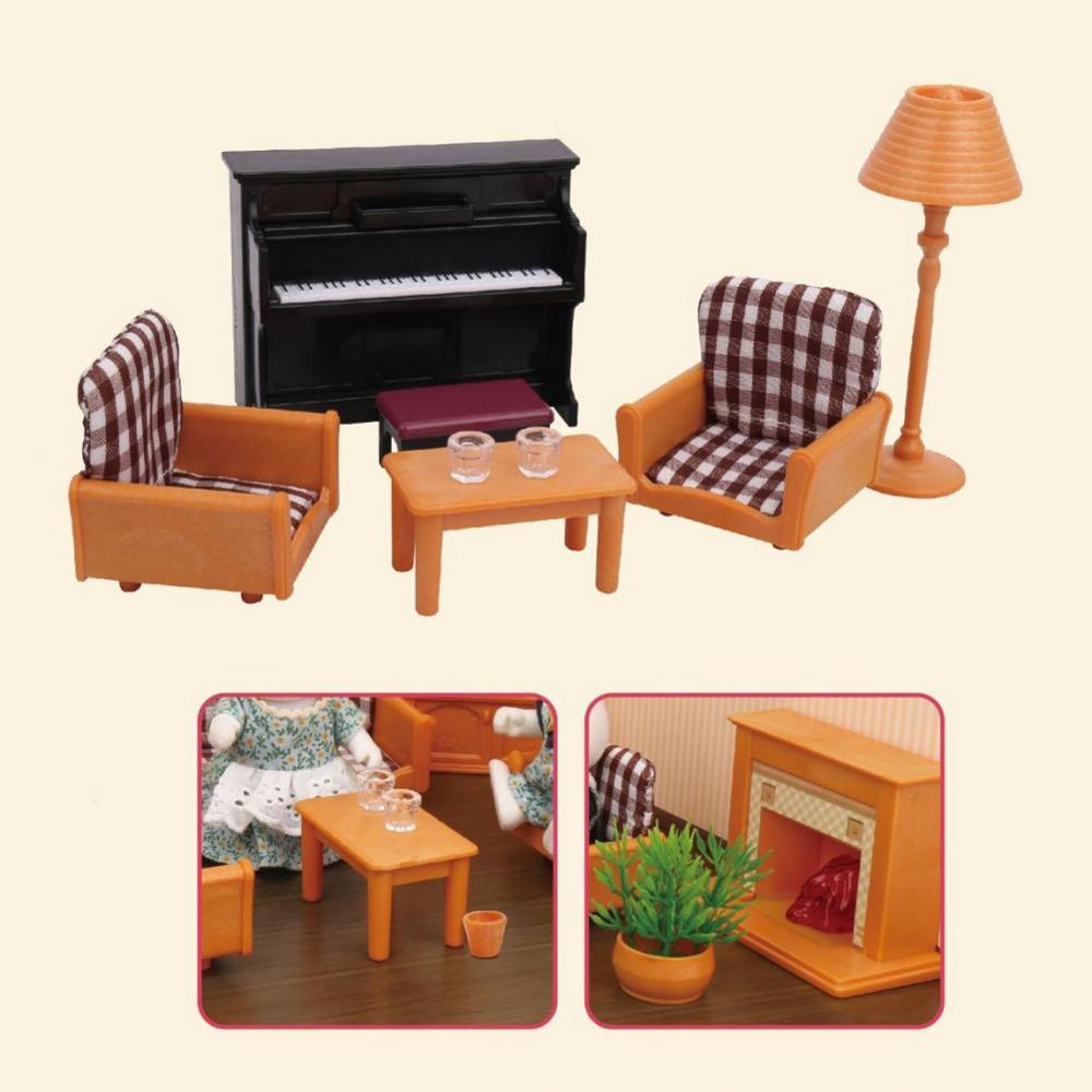 Casa de muñecas en miniatura para niños y niñas, muebles para juegos de simulación, regalo para Navidad y cumpleaños